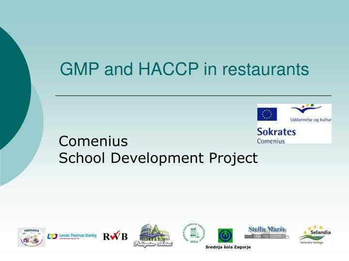 gmp and haccp in restaurants n.