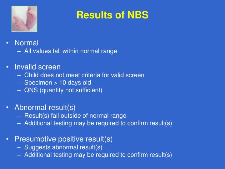Results of NBS