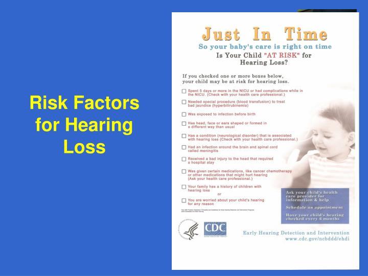 Risk Factors for Hearing Loss