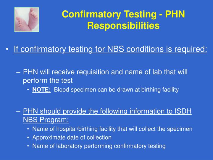 Confirmatory Testing - PHN Responsibilities