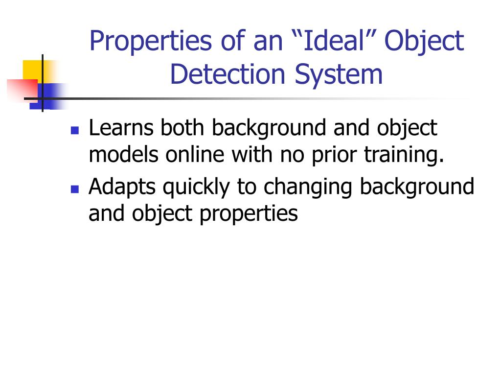 PPT - Robust Moving Object Detection & Categorization using