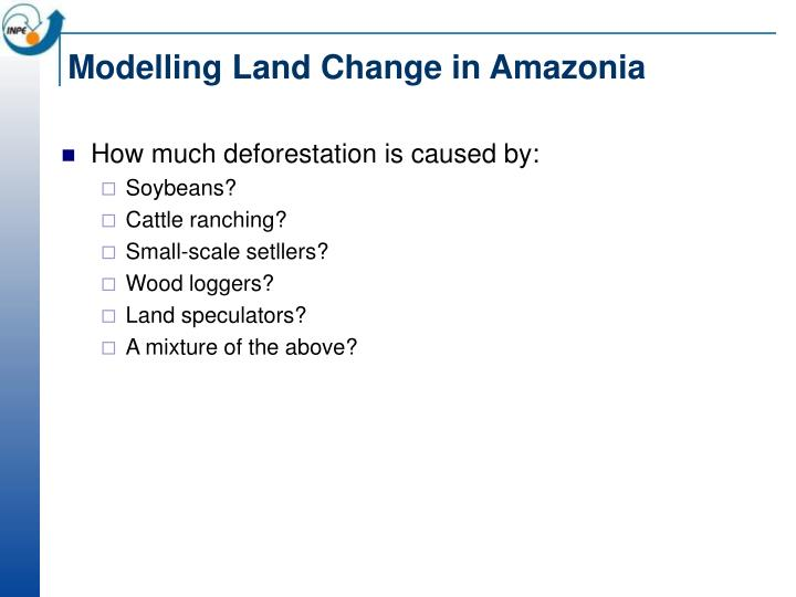 Modelling Land Change in Amazonia