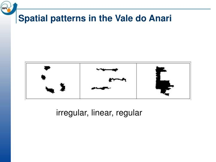 Spatial patterns in the Vale do Anari