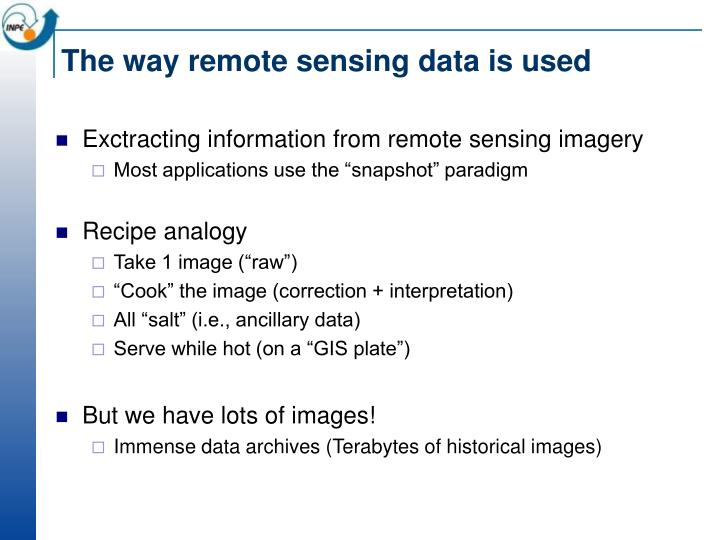 The way remote sensing data is used