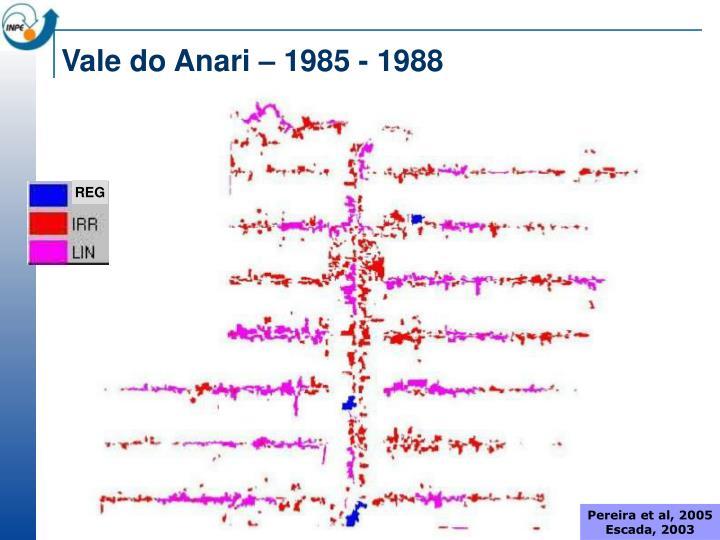 Vale do Anari – 1985 - 1988