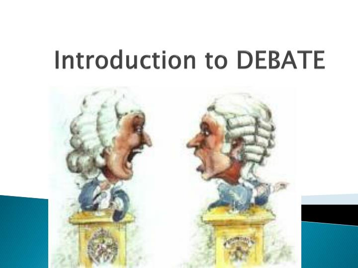 introduction to debate n.