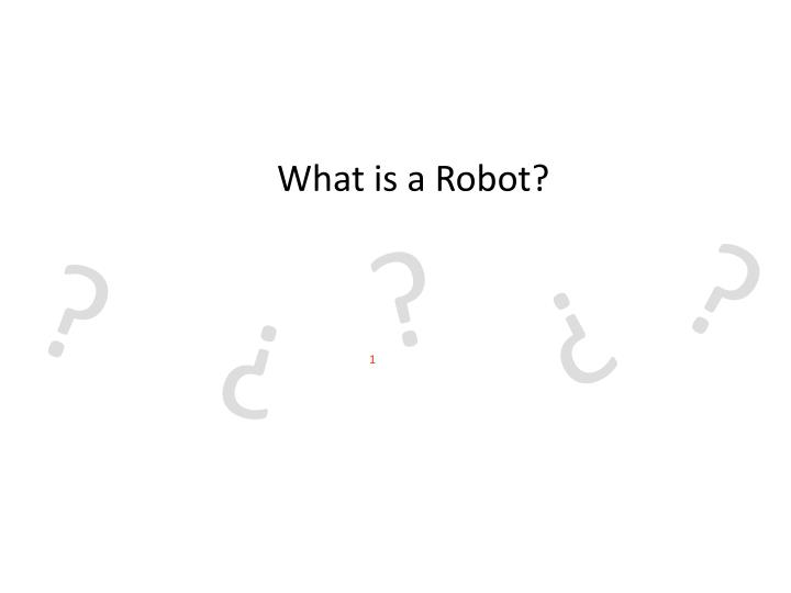 what is a robot n.