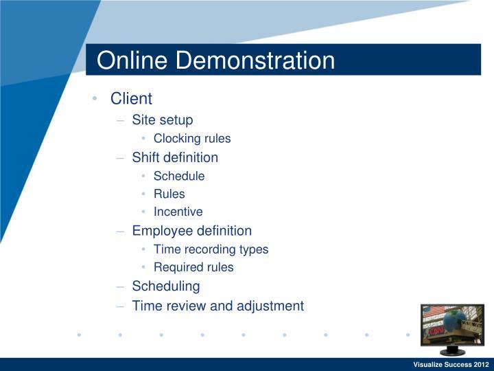Online Demonstration