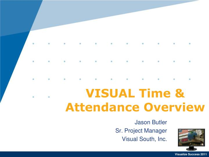 Visual time attendance overview