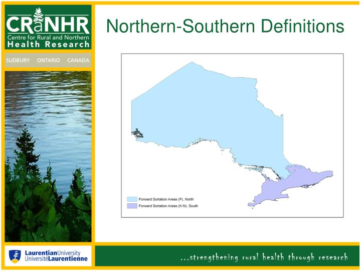 Northern-Southern Definitions