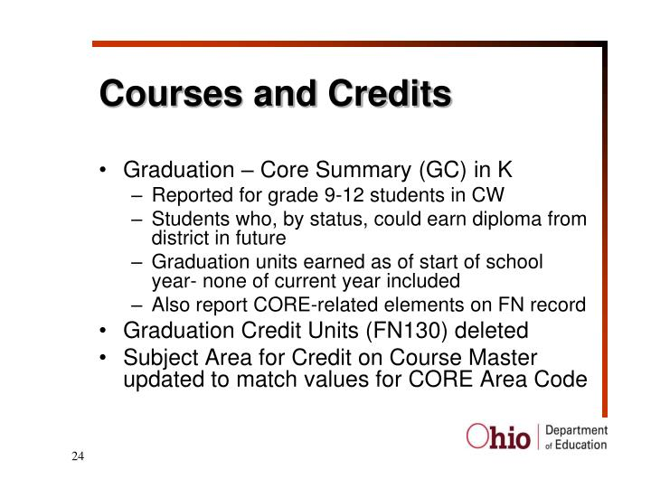 Courses and Credits