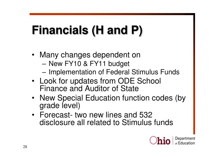 Financials (H and P)