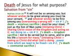 death of jesus for what purpose salvation from sin