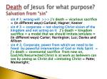 death of jesus for what purpose salvation from sin2
