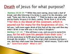 death of jesus for what purpose