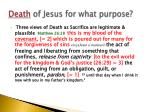 death of jesus for what purpose1