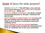 death of jesus for what purpose2