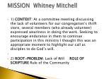mission whitney mitchell
