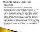 mission whitney mitchell teaching1