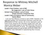 response to whitney mitchell monica weber