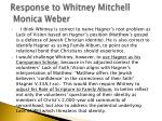 response to whitney mitchell monica weber1