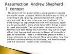 resurrection andrew shepherd 1 context