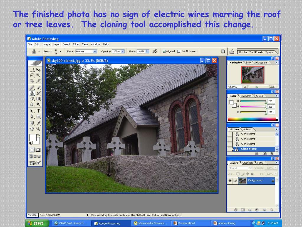 Ppt How To Clone Images Using Adobe Photoshop Cs