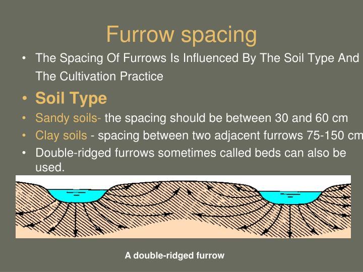 Furrow spacing