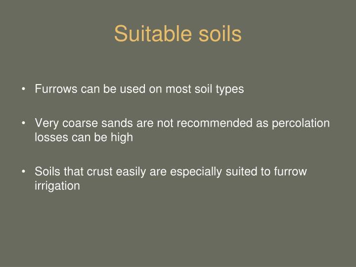 Suitable soils