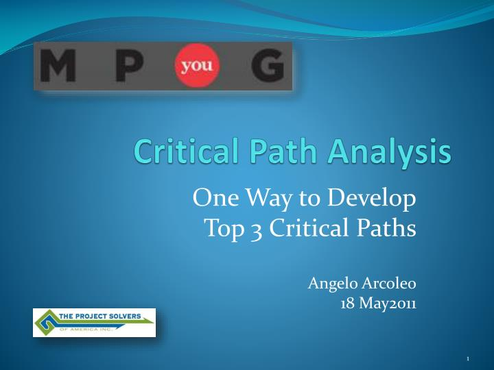 critical path analysis coursework The critical path method a critical path analysis is a diagrammatical representation of what needs to be done and of course, finding the critical path.