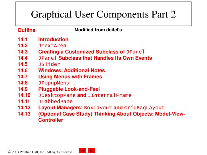 graphical user components part 2 n.