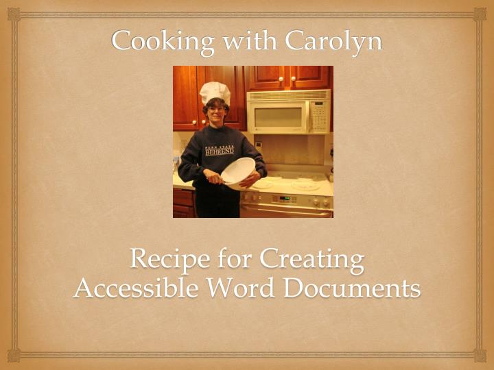 cooking with carolyn n.