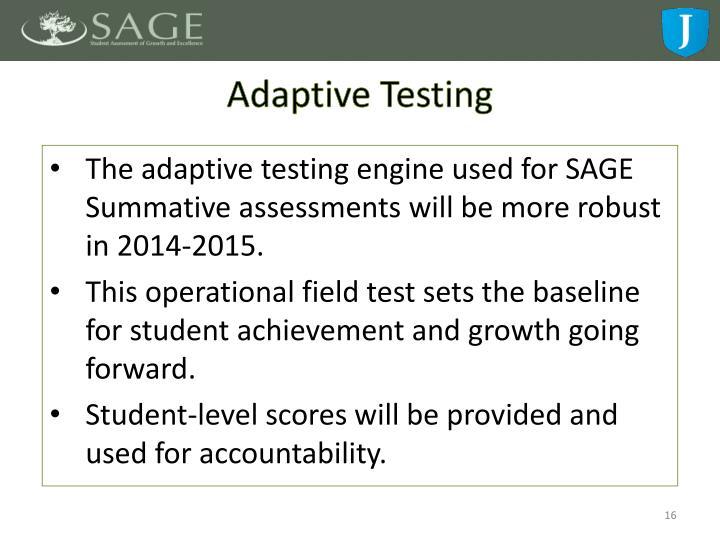 Adaptive Testing