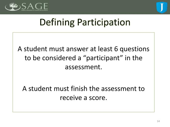 Defining Participation