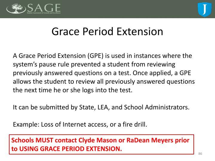 Grace Period Extension