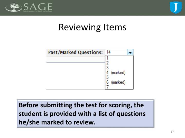 Reviewing Items