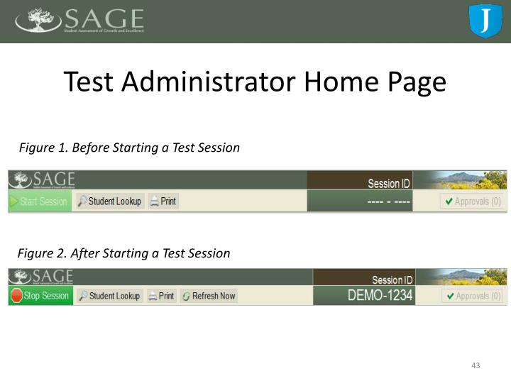 Test Administrator Home Page