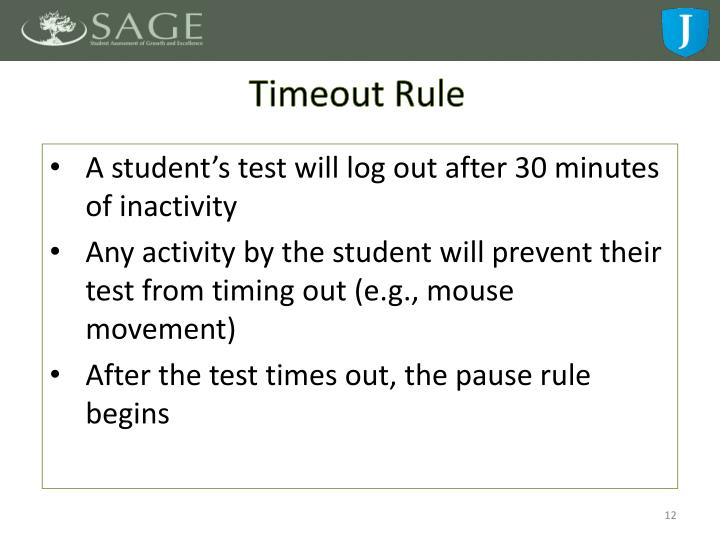 Timeout Rule