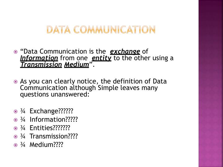 the emerging standard for mobile data communication essay Already defined in the original 80211 standard boosted data  communication) is a digital mobile network that is  mobile data, back-end services.