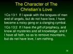 the character of the christian s love