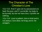 the character of the christian s love1