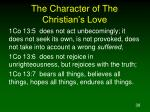 the character of the christian s love2
