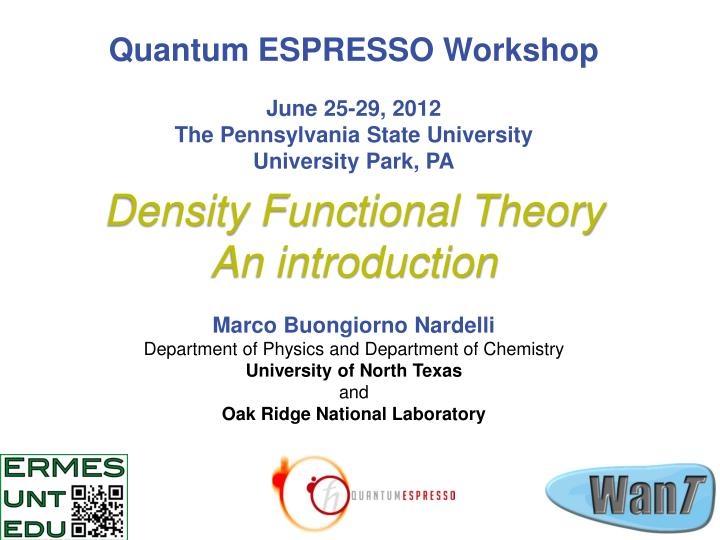 PPT - Density Functional Theory An introduction PowerPoint
