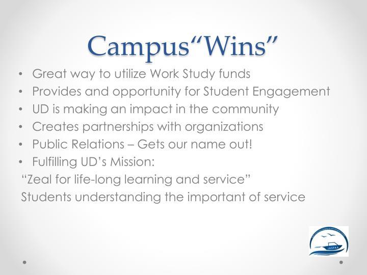 """Campus""""Wins"""