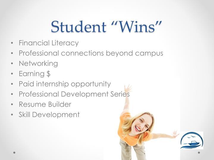 "Student ""Wins"""