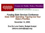 funding state services conference state tanf spending figuring out your state s priorities