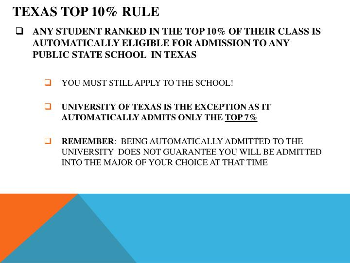 TEXAS TOP 10% RULE
