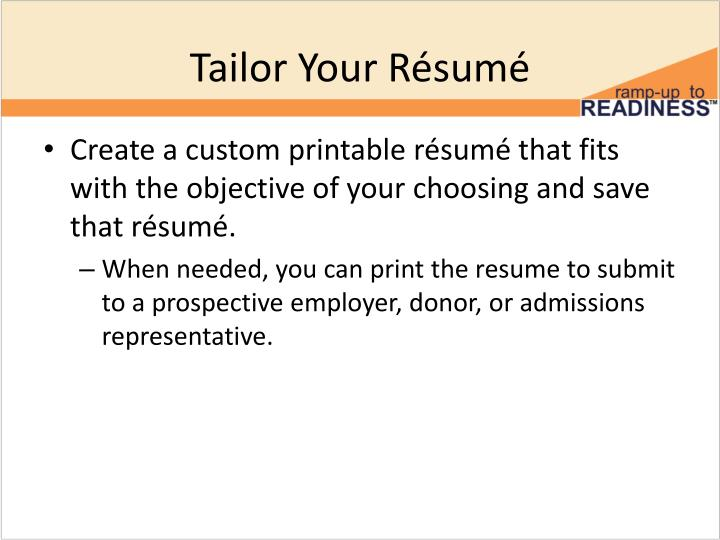 Tailor Your