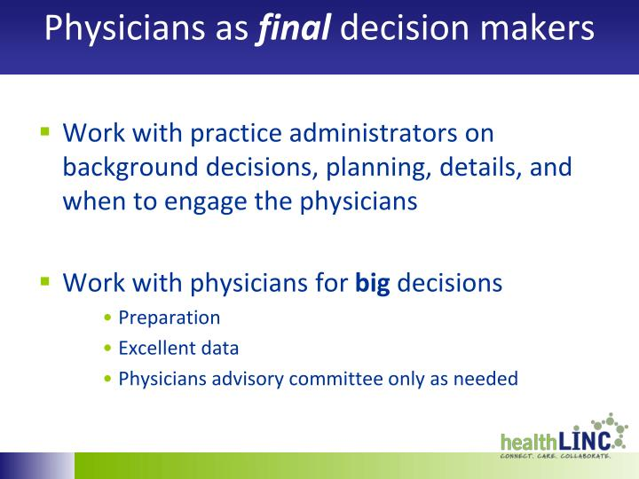 Physicians as