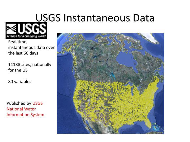 USGS Instantaneous Data